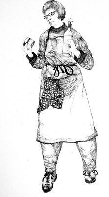 Christine Gendre - Bergere - Gravure