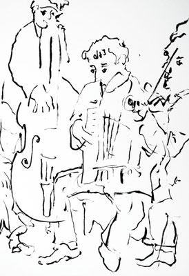 """Laurent Besson  - croquis feutres Posca - """" Trio Bel Tuner """""""