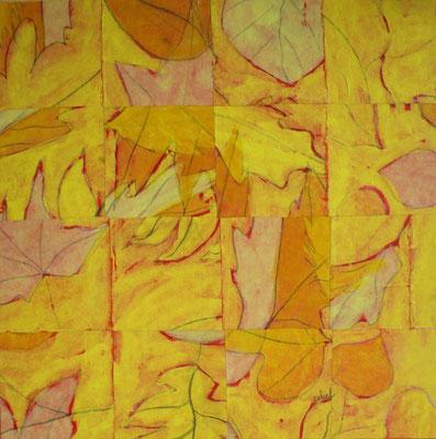 Cehel - peinture, collage - 40x40cm