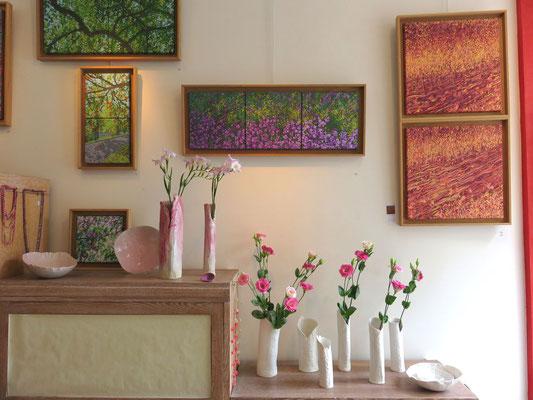 Sophie Gallé-Soas - Vases en porcelaine - Peintures de Françoise Trotabas
