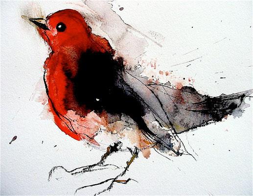 Jacques Cauda - peintre - aquarelle - 30x30cm