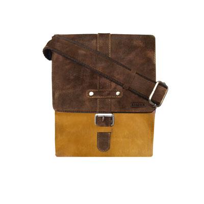 Kasser - sac en cuir de vachette - marron  et jaune