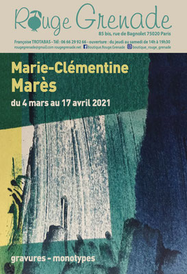 Exposition Marie-Clémentine Marès, gravures et monotypes