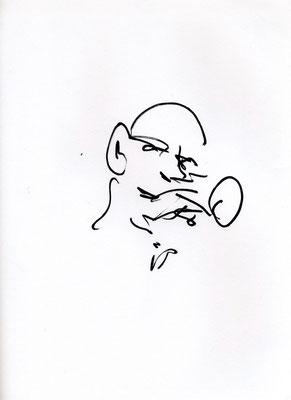 """Laurent Besson  - croquis feutres Posca - """" Soirée Jazz """""""