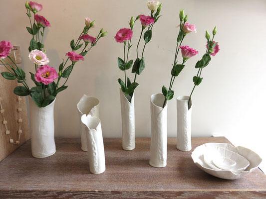 Sophie Gallé-Soas - Vases en porcelaine