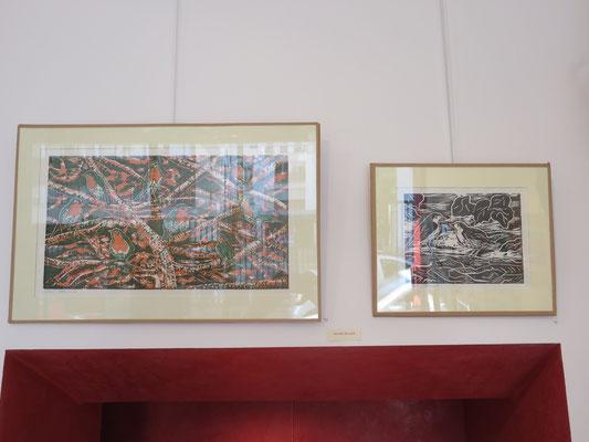 Linogravures de Michelle Boucard