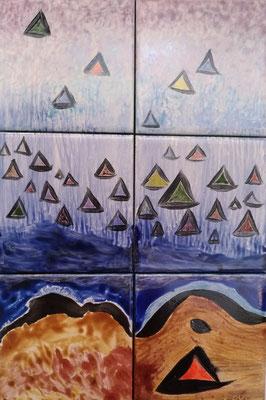 Patrick Outil - Céramique peinte sur carrelage