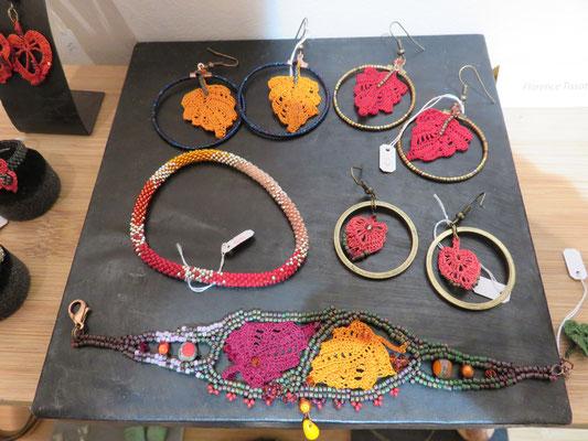 Florence Tissot - bijoux perle et crochet fil de soie