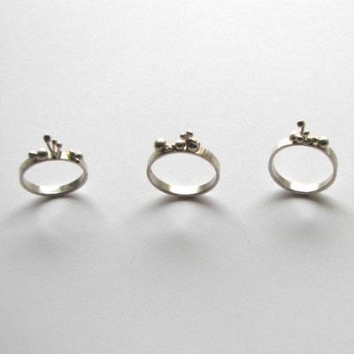 """Nenuphar bijoux - """"bague germination"""" - argent"""