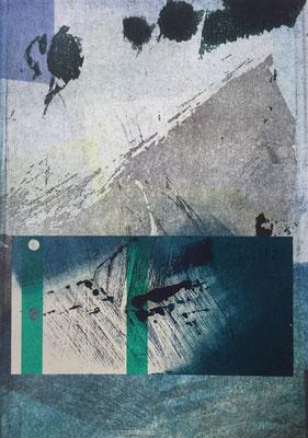 Marie -Clémentine Marès - graveur /plasticienne - Composition format A5 (cadre plexi)- 160 euros