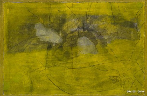 CEHEL - Liberté chérie - 65x100  - 2016 - Encre et peinture marouflés sur toile