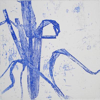 Isabelle Dansin- gravure - Idéogramme (7) 15x15cm