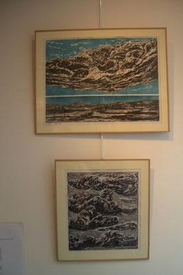 Michelle Boucard- linogravures - nuages