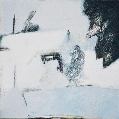 Jean-Pierre Plundr -  neige de chaleur - acrylique sur toile -  65x50cm- 2017