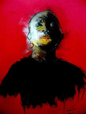 Jacques Cauda - Egyptien - pastel sur papier -30x40cm -