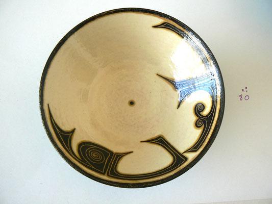 Plat motif calligraphique4 - Najo  - 20cm de diamètre