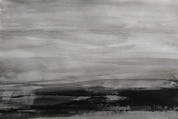 Vajid Amini - peinture acrylique sur papier