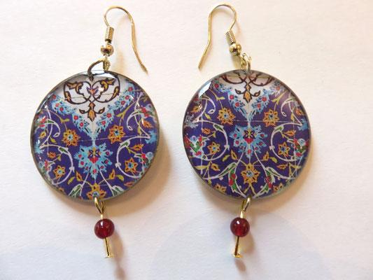 bijoux SIN - résine + impression sur laiton -  ø 3cm