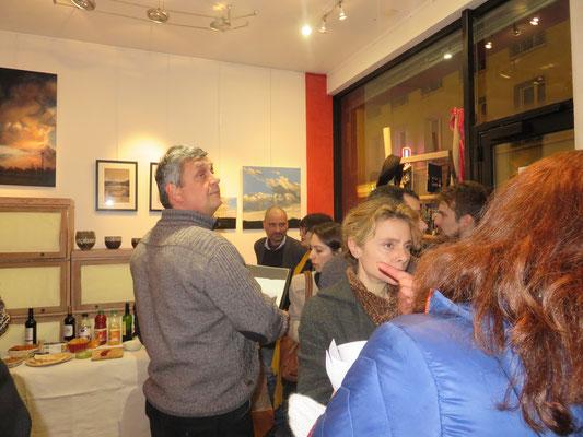 Vernissage de l'exposition Claude Francheteau - vendredi 12 janvier 2018