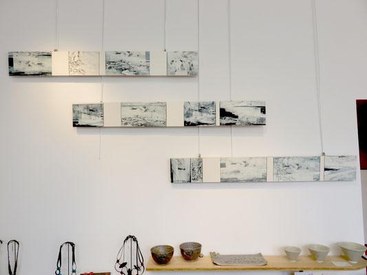 Marie Clémentine Marès- installation - gravure marouflé sur bois