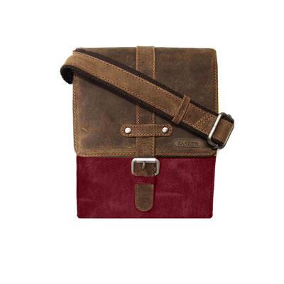 Kasser - sac en cuir de vachette - marron et rouge