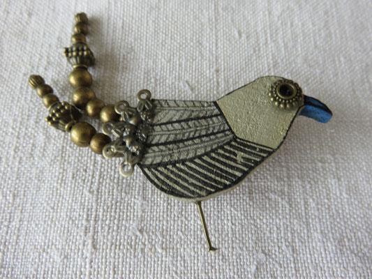 Shahrzad Haeri - broche en bois et métal -