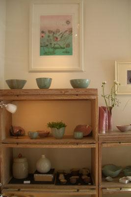 Céramiques de Sophie Gallé-Soas -Gravure de takako Hirano