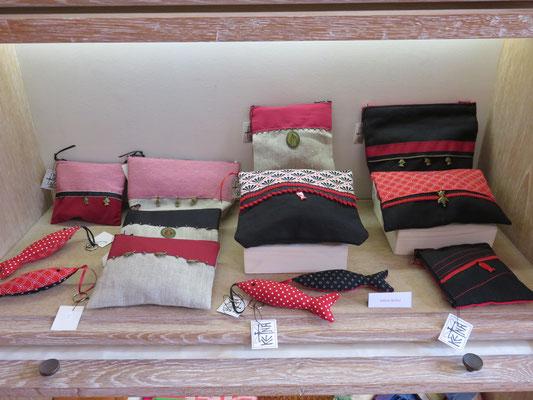 Création textile: pochette et sac de Valérie Bélier