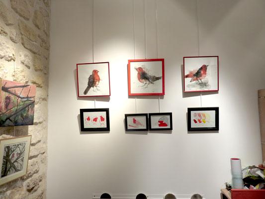 Jacques Cauda, 3 aquarelles - Adèle Gallé 4 sérigraphies