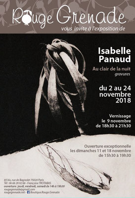 Exposition Isabelle Panaud - gravures