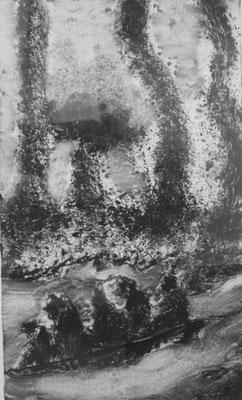 Michelle Boucard - monotype - tempête- 15x25cm - 2017