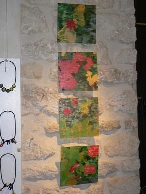 Peintures sur plexiglass :  Maryam Sadet