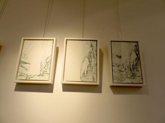Marie Clémentine Marès  - 3 gravures marouflé sur bois
