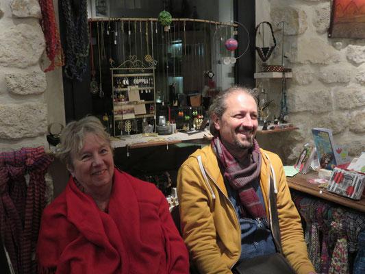 Vernissage Mer Rouge Terre Noire - 10 novembre 2017 - Cristel et Alain