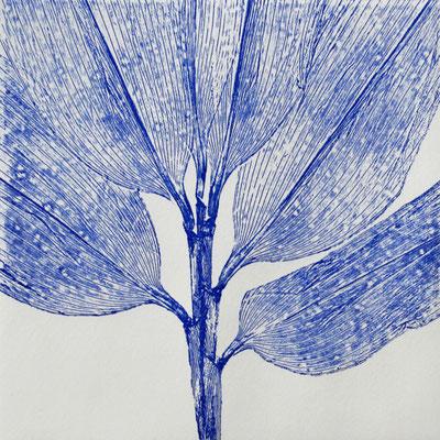 Isabelle Dansin- gravure - Idéogramme (1) -15x15cm