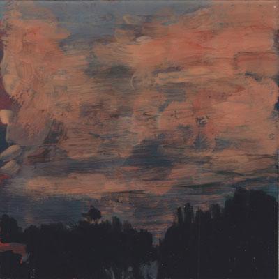 Claude Francheteau - fixé sur verre - 10x10 cm -