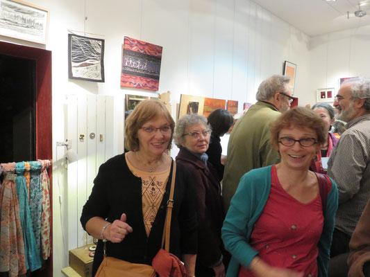 Vernissage Mer Rouge Terre Noire - 10 novembre 2017 - Les eleves de Versailles : christine et Lili