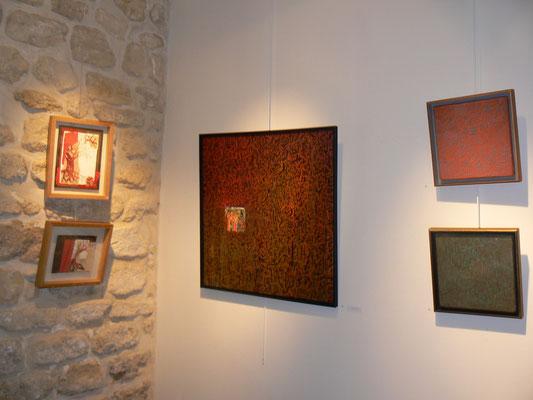 Tableau et 2 fresques de Patrick Outil 30x30cm