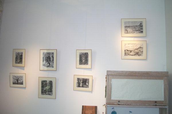 Michelle Boucard - monotypes - paysages , arbres