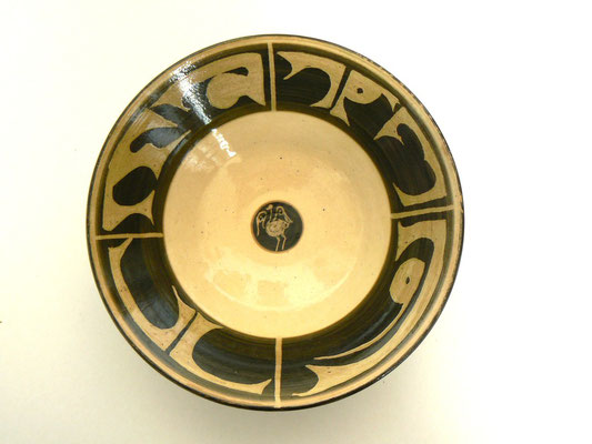Plat motif calligraphique6 - Najo  - 20cm de diamètre