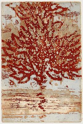 Isabelle Dansin- gravure - Arbre de vie - 15x10cm