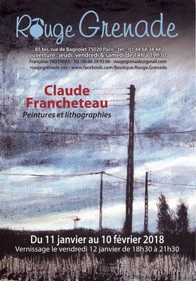 Exposition Claude Francheteau - peintures et lithographies