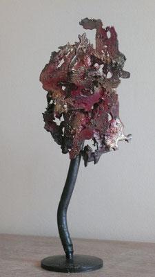 Denise Eisler - sculpture en métal de récupération - Bonsaï - 29x12x15