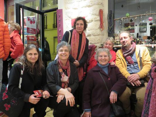 Vernissage Mer Rouge Terre Noire - 10 novembre 2017 - Maryam, Françoise, Michelle, Martine et Alain