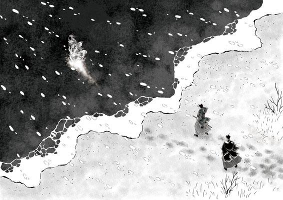 「初春の客」挿絵