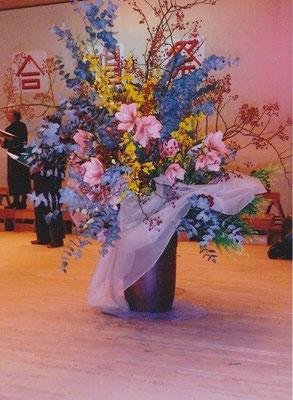 岐阜県養老町 合唱祭舞台花 11月3日