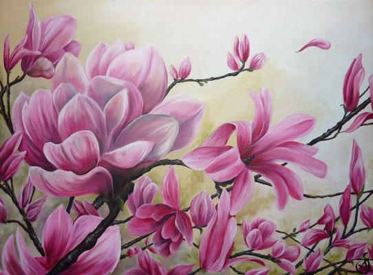 Magnolia, Huile sur toile, 60 x80cm, 2012 Vendu