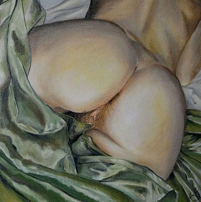 L'idole, huile sur toile de lin brut, 2008. texte: Arthur Rimbaud, lu par Arthur H