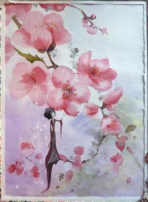 La reine des fleurs, Aquarelle 24x32 cm 2013 Vendu