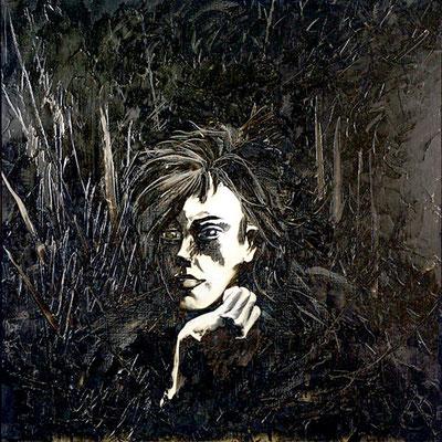 Rimbaud,100x100cm huile sur toile Vendu